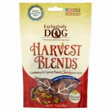 Exclusively Dog Harvest Blends Cranberry N' Carrot Flavor Chewy Dog Treats, 7 oz