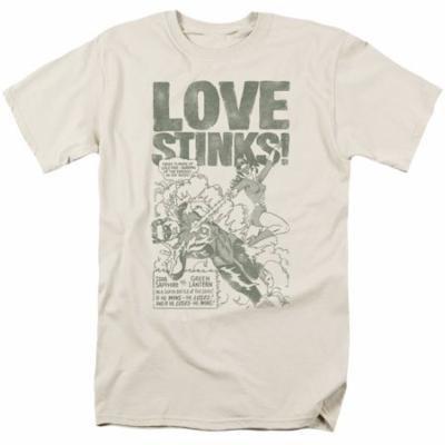 GREEN LANTERN/LOVE STINKS - S/S ADULT 18/1 - CREAM - 2X