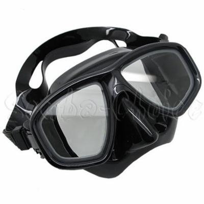 Black Dive Mask NEARSIGHTED Prescription RX Optical Lenses (Different each eye)