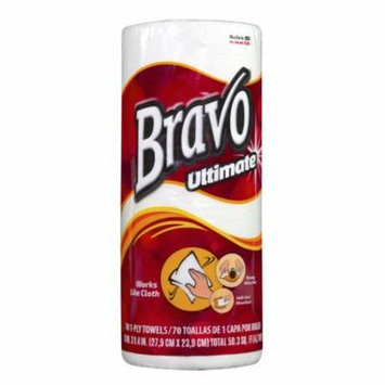 BRAVO Ultimate Premium Paper Towel 70ct (30 Rolls of 70 Sheets)