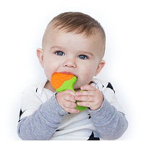 Nuby Fruity Chews Straight Handle Teether, 3 Months, Grape