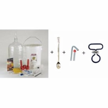 Gold Complete Beer Equipment Kit (K7p) Premium with 5 Gallon Glass Carboy, Ca...