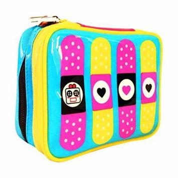 Miss Locker Cute Makeup Bag (Medium) Cosmetic Organizer Toiletry Pencil Pouch Women Back to School Teen Girl Train Case