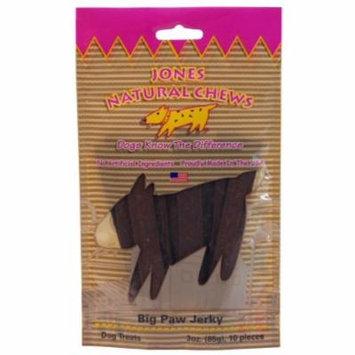 Jones Natural Chews 00803 Big Paw Jerky Dog Treat, 6 oz, 20/Pack