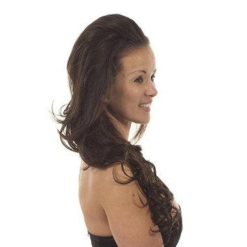 Long Wavy Volume Half Wig Hairpiece | Add Length and Volume | Shade - Loren Dark Brunette