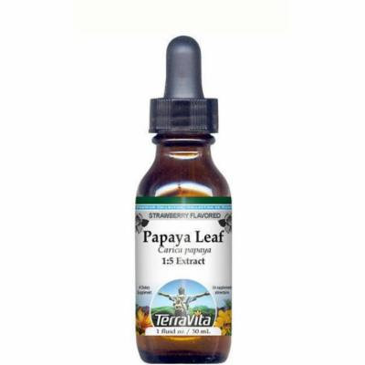 Papaya Leaf Glycerite Liquid Extract (1:5) - Strawberry Flavored (1 oz, ZIN: 512808)