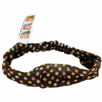 Colorful Polka Dots On Brown Polka Dot Stretch Headband