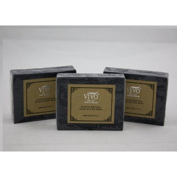 Vivo Per Lei Dead Sea Soap | Acne Soap with Dead Sea Salt | Bamboo Charcoal Soap for Pores | Get Irresistible Skin with this Exfoliating Soap Bar | Dead Sea Mud Soap for Gentle Cleansing (3 pack)