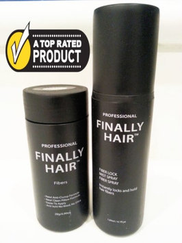 Finally Hair Hair Loss Concealer Kit - 28g Hair Fibers & Fiber Lock Spray