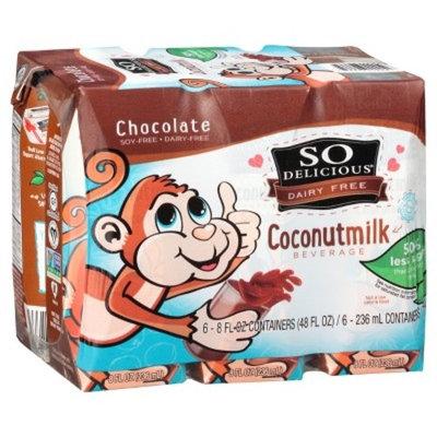 So Delicious Chocolate Coconut Milk Dairy Free 8oz - 6 Pack