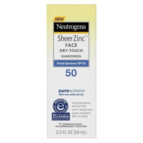 Neutrogena Sheer Zinc Sunscreen Face Lotion - SPF 50 - 2oz