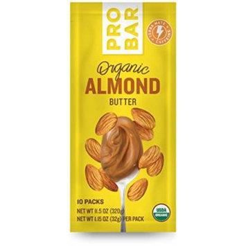 PROBAR - Organic Plant-Based Almond Butter + Yerba Mate Caffeine - USDA Organic, Gluten Free, Non-GMO Project Verified, 5g Protein - Pack of 10