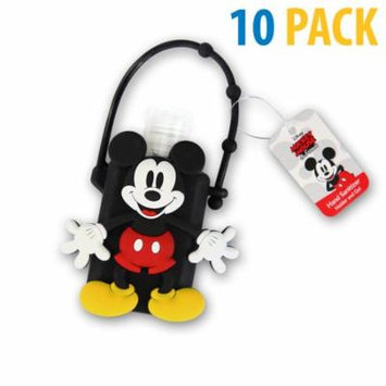 Classic Disney Mickey Mouse Hand Sanitizer Holder and Ge-l Set of 10 (1oz)