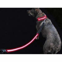 GlowHERO LED Light Up Dog Leash - The Original GlowLeash - High Visibility Durable and Reflective LED Pet Leash w/Padded Shock Absorbing Handle (Neon Pink, 4.2ft)
