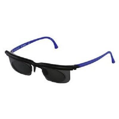 Sundials Sunglasses Instantly Adjustable, Black and Blue Frame 1 Count