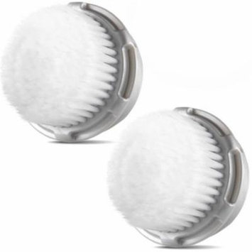 Procizion Compatible Replacement Cashmere Brush Heads for Full Facial Like Cleanse Work with Mia, Mia 2, Mia 3, Aria, PLUS, Smart Profile, Alpha Fit, Radiance and PRO Cleansing Systems (Twin Pack)