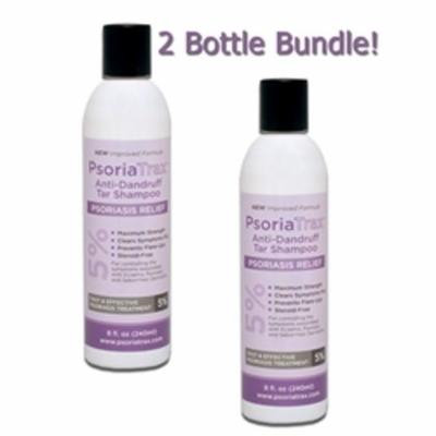 Psoriatrax Coal Tar Shampoo 12oz 5% Coal Tar(2 Bottle Bundle))