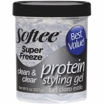 Softee Super Freeze Protein Styling Gel 8 Oz
