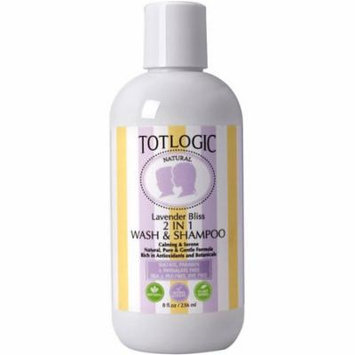 TotLogic Lavender Bliss 2 in 1 Wash & Shampoo, 8 fl oz
