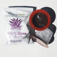 Pooki's Mahi 100% Kona Coffee Peaberry Pods for Single Serve Coffee Makers, 72 Count