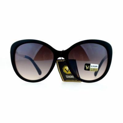 VG Eyewear Pearl Jewel Trim Diva Designer Fashion Womens Sunglasses Black Brown