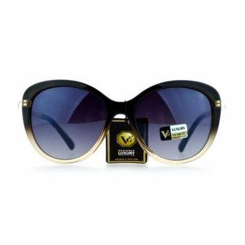 VG Eyewear Pearl Jewel Trim Diva Designer Fashion Womens Sunglasses Grey Clear