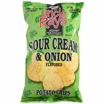 9 PACKS : Uncle Ray's Sour Cream & Onion Potato Chips, 6-Ounce Packages