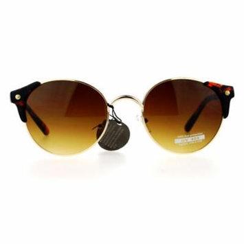 SA106 Unique Half Horn Rim Retro Vintage Style Sunglasses Tortoise