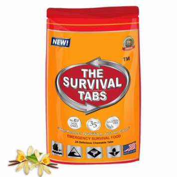 Survival Tabs 2 Day 24 Tabs Emergency Food Survival MREs Meal Replacement for Disaster Preparedness Gluten Free and Non-GMO 25 Years Shelf Life Long Term - Vanilla Flavor
