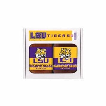 LSU Tigers NCAA Double Play (16oz BBQ Sauce, 16oz Picante Salsa)