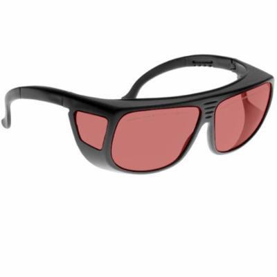 Noir Spectra Shields Medium Adjustable-Fitover 40 Percent Light Red