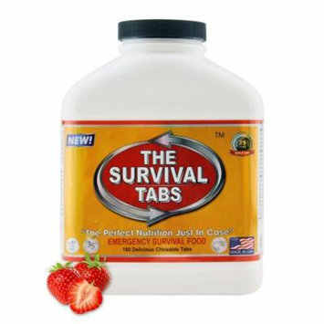 Survival Tabs 15 Day 180 Tabs Emergency Food Survival MREs Meal Replacement for Disaster Preparedness Gluten Free and Non-GMO 25 Years Shelf Life Long Term - Strawberry Flavor