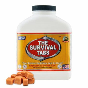 Survival Tabs 15 Day 180 Tabs Emergency Food Survival MREs Meal Replacement for Disaster Preparedness Gluten Free and Non-GMO 25 Years Shelf Life Long Term - Butterscotch Flavor
