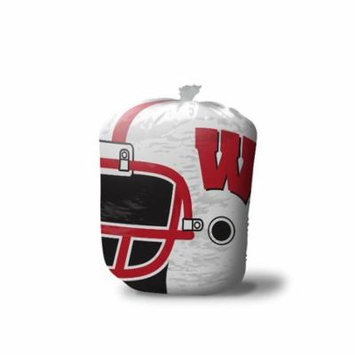 NCAA Wisconsin Badgers Stuff-A-Helmet Lawn & Leaf Bag, Large/57 gallon, White