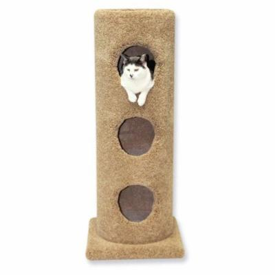 Beatrise Pet Furniture 3 Story Carpeted Cat Condo Tower House Tree Post w/ Base