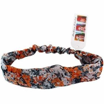 Orange & White Frilly Flower Boutique Spring Flowers Headband