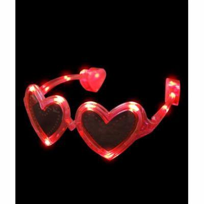 LED Heart Sunglasses - Red
