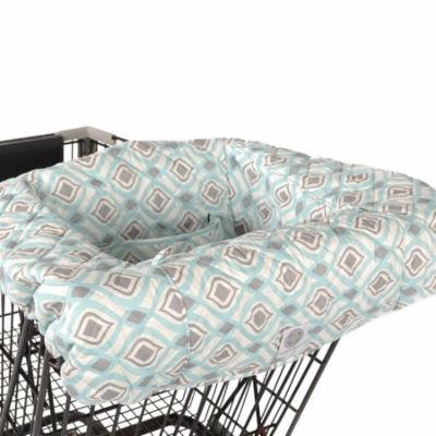 Balboa Baby Shopping Cart and High Chair Cover - Boheme Aqua and Grey Design - 100% Cotton