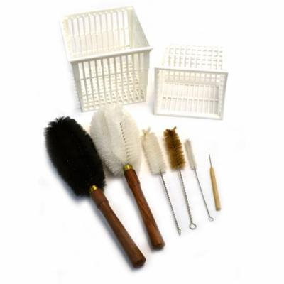Eisco Labs 8 Piece Parts washer Cleaning Kit - Baskets and Brushes