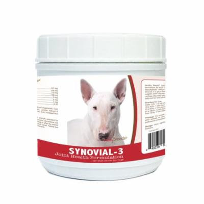 Healthy Breeds Synovial-3 Dog Hip and Joint Supplement for Bull Terrier, Glucosamine Omega 3 Vitamin C & E Support, 120 Soft Chew Treats