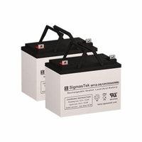 Topaz 850 Batteries (Set of 2 - 12V 35AH SLA Batteries)