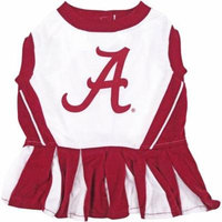 Pets First College Alabama Crimson Tide Cheerleader, 3 Sizes Pet Dress Available. Licensed Dog Outfit