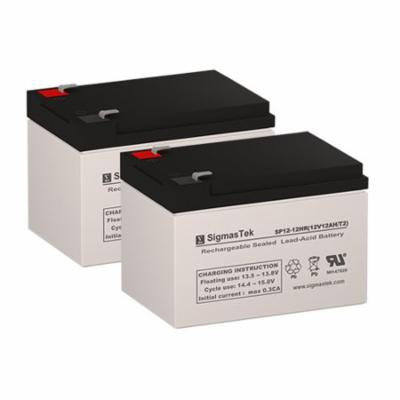 X-Treme X-11 Replacement Scooter Battery (Set of 2 - 12V 12AH SLA Batteries)