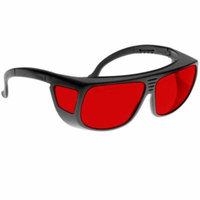 Noir Spectra Shields Large Adjustable -Fitover 45 Percent Red