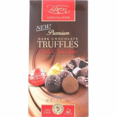 Baron Chocolatier Premium Dark Chocolate Truffles, Creme Filling, 5-Oz (Pack Of 6)