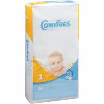 ATTENDS Baby Diaper Comfees Tab Closure Size 1 Disposable #CMF-1