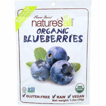 Nature's All Foods Organic Freeze-Dried Blueberries, 1.2 Oz (Pack Of 12)