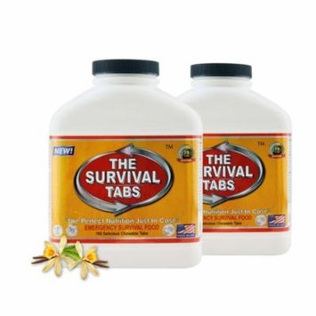 Survival Tabs 30 Day 360 Tabs Emergency Food Survival MREs Meal Replacement for Disaster Preparedness Gluten Free and Non-GMO 25 Years Shelf Life Long Term - Vanilla Flavor