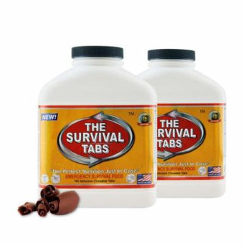 Survival Tabs 30 Day 360 Tabs Emergency Food Survival MREs Meal Replacement for Disaster Preparedness Gluten Free and Non-GMO 25 Years Shelf Life Long Term - Chocolate Flavor