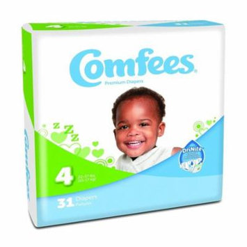 ATTENDS Baby Diaper Comfees Tab Closure Size 4 Disposable #CMF-4